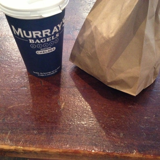 Photo taken at Murray's Bagels by Elia A. on 11/18/2012