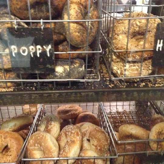 Photo taken at Murray's Bagels by Elia A. on 11/17/2012