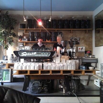 Photo taken at Bonanza Coffee Heroes by Adam L. on 11/14/2012