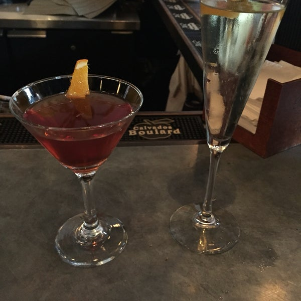 Try the Chamberlain (for him) and the Grace Kelly (for her). Half off during happy hour!