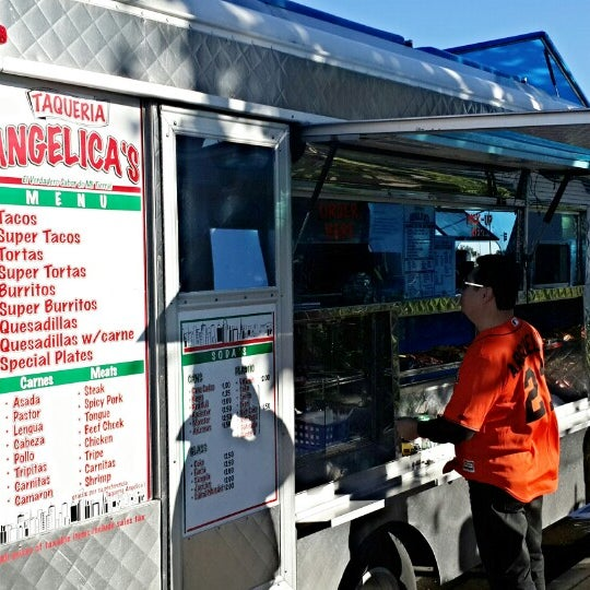 Photo taken at Angelica's Taqueria Taco Truck by TravisD on 12/25/2014