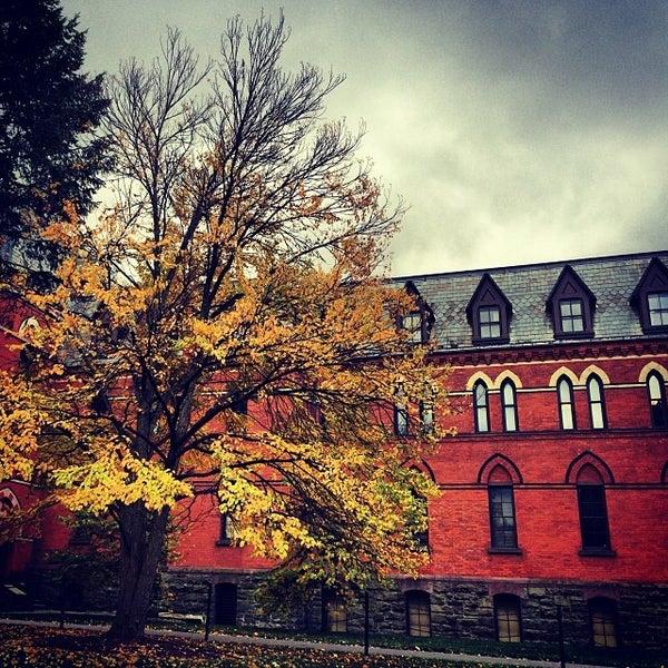 Photo taken at Sage Hall by Arnab M. on 10/23/2013