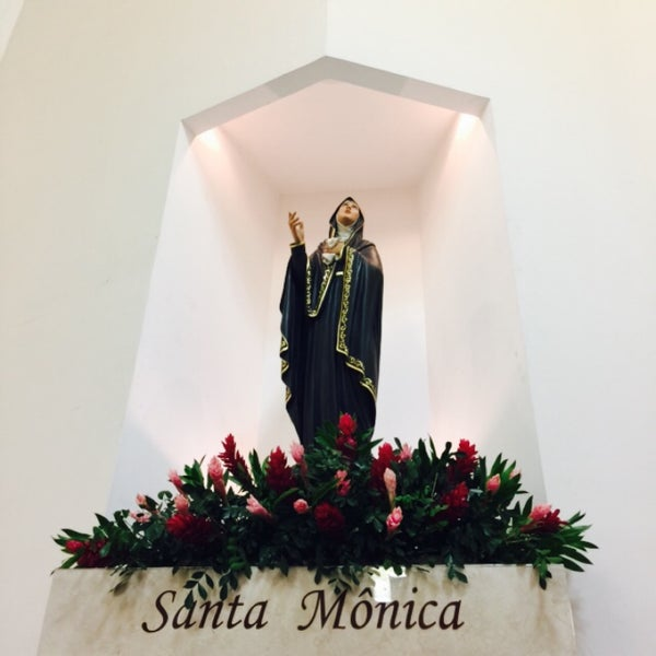 Photo taken at Paróquia Santa Mônica by Maura X. on 7/5/2015