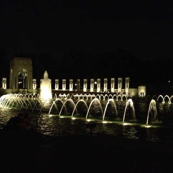 Photo taken at World War II Memorial by Nick B. on 7/21/2013