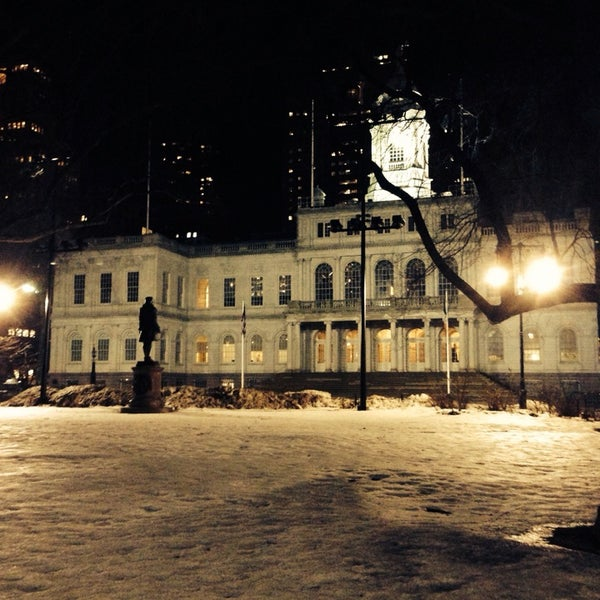 Photo taken at City Hall Park by Matty M. on 2/23/2014