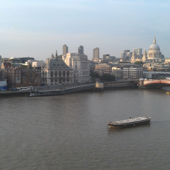 Photo taken at OXO Tower Brasserie by James on 6/26/2013