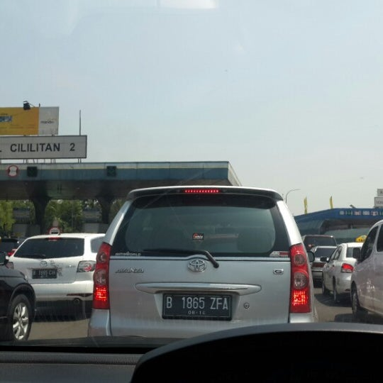 Photo taken at Gerbang Tol Cililitan by Wittha on 9/24/2014