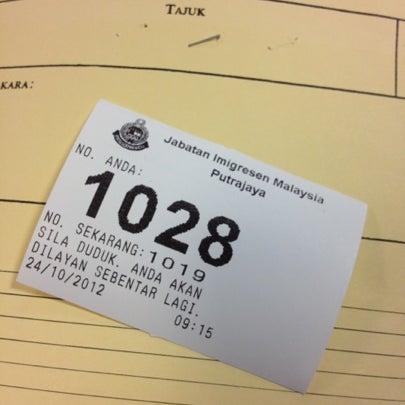 Photo taken at Jabatan Imigresen Malaysia by Azlila M. on 10/24/2012