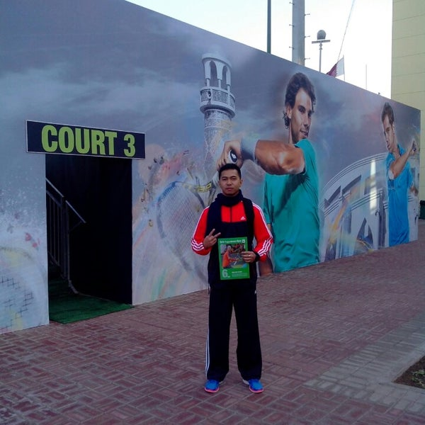 Photo taken at Qatar Tennis Federation by Daniel on 1/4/2014