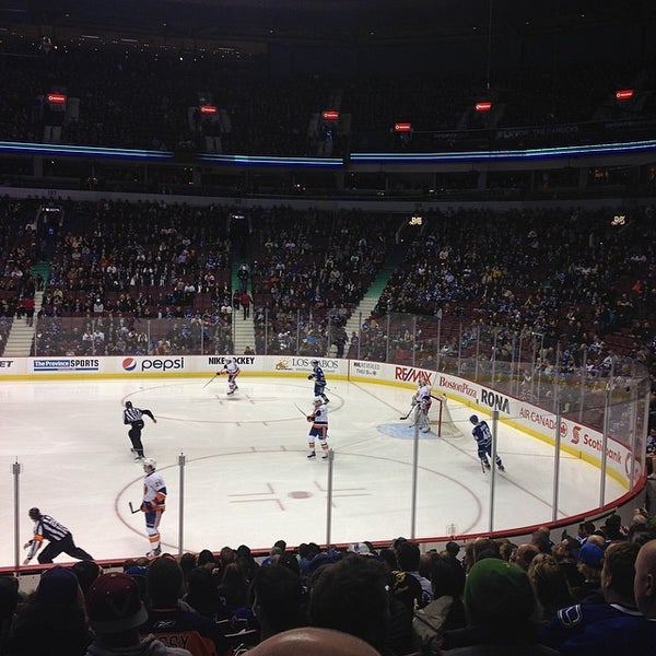 Photo taken at Rogers Arena by Caty T. on 3/11/2014
