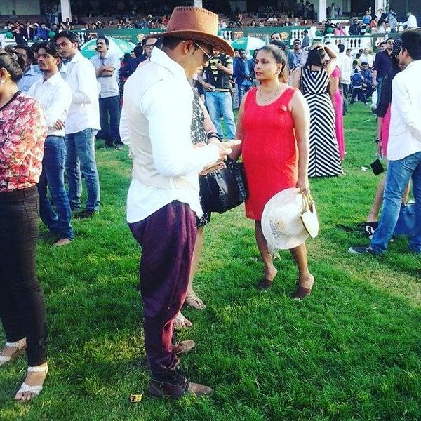 Photo taken at Mahalaxmi Race Course (Royal Western India Turf Club) by Siddhant V. on 9/17/2016