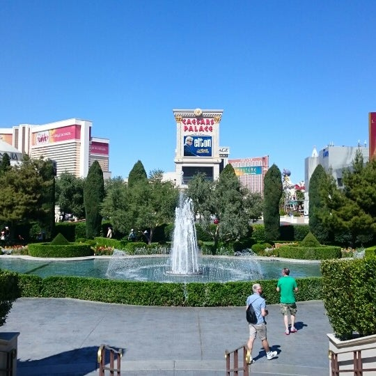 Photo taken at Caesars Palace Gardens by Majid on 3/19/2015