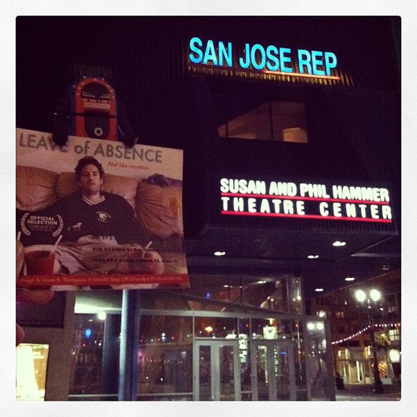 San Jose Repertory Theatre Downtown San Jose 101 Paseo