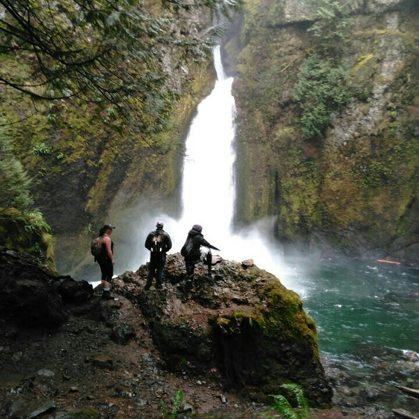 Photo taken at Wahclella Falls Trail by Michael B. on 1/26/2016