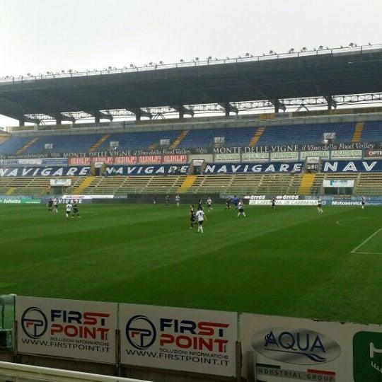 Photo taken at Stadio Ennio Tardini by Valentina L. on 10/18/2015