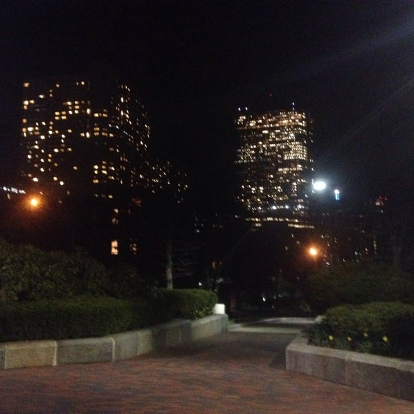Photo taken at SW Corridor Park - Back Bay by Kevin V. on 4/17/2014