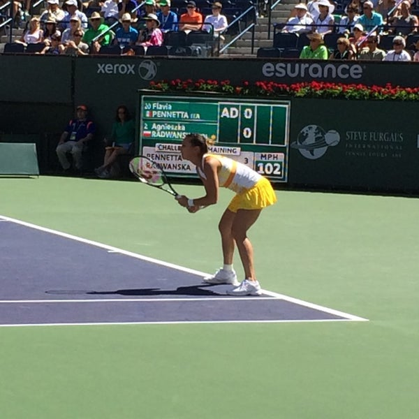Photo taken at Indian Wells Tennis Garden by Jordan S. on 3/16/2014