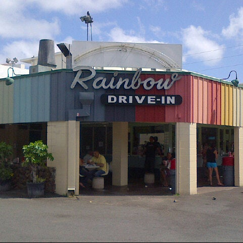 Photo taken at Rainbow Drive-in by Linda L. on 3/5/2013