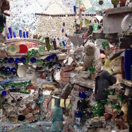 Photo taken at Philadelphia's Magic Gardens by Ashley S. on 3/22/2014