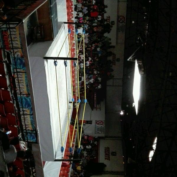 Photo taken at Arena Adolfo Lopez Mateos by Monserrat S. on 1/1/2017
