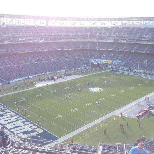 Photo taken at Qualcomm Stadium by David on 11/1/2012
