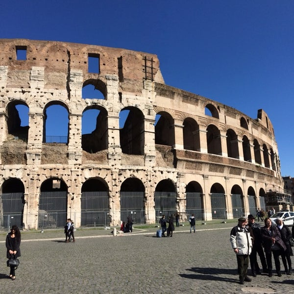 Photo taken at Piazza del Colosseo by George K. on 2/24/2014