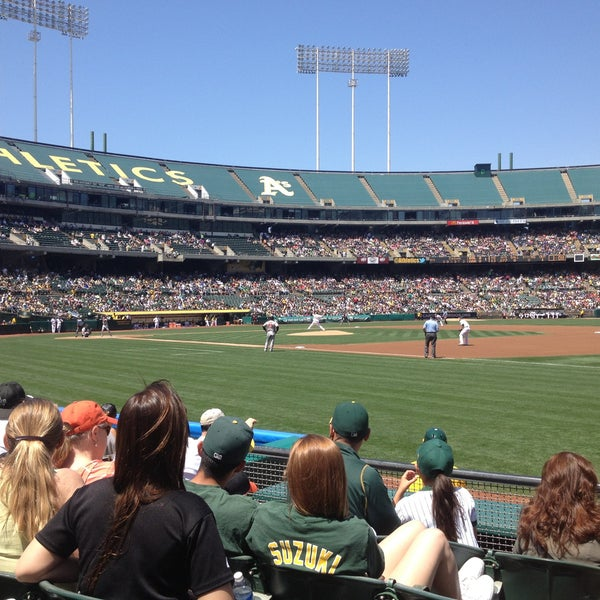 Photo taken at O.co Coliseum by Josh B. on 4/28/2013