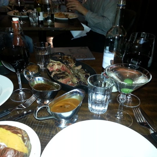 Photo taken at Hawksmoor Seven Dials by Houman A. on 12/18/2012