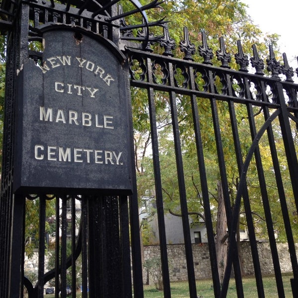 Photo taken at New York City Marble Cemetery by Raja H. on 11/2/2013
