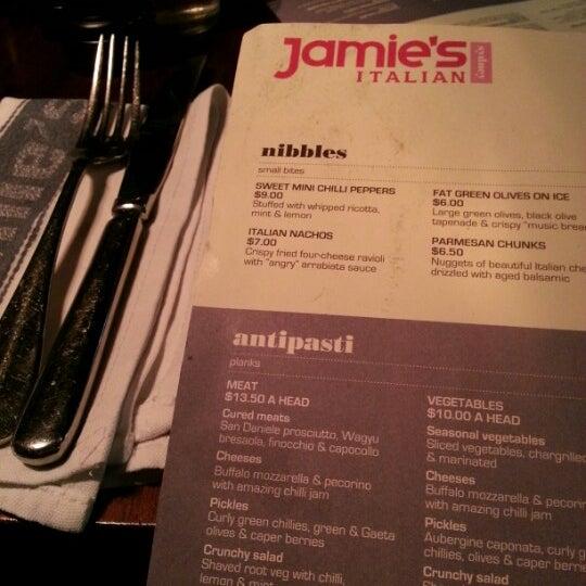 Photo taken at Jamie's Italian by Jemma O. on 9/20/2012