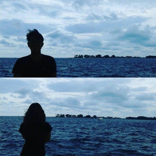 Photo taken at Pulau Pramuka by Sonya V. on 2/7/2016