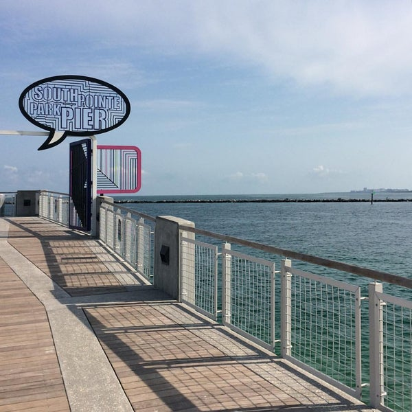 Photo taken at South Pointe Pier by Mac's C. on 4/14/2016
