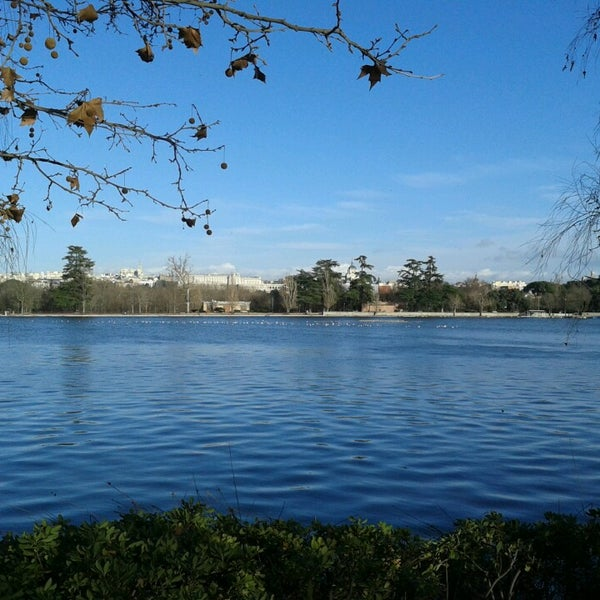 Photo taken at Lago de la Casa de Campo by Ana G. on 2/25/2014