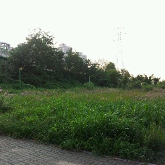 Photo taken at 광평교 by Daniel on 9/22/2012