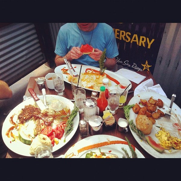 Photo taken at Hash House a Go Go by David C. on 4/19/2012