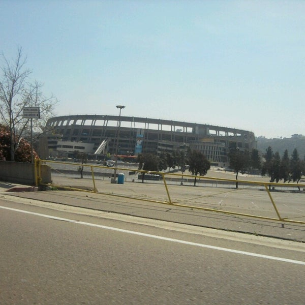 Photo taken at Qualcomm Stadium by Timothy H. on 3/25/2013