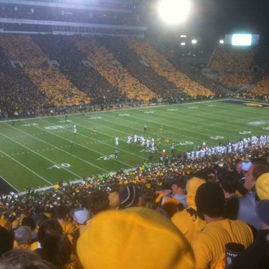 Photo taken at Kinnick Stadium by Rick L. on 10/21/2012