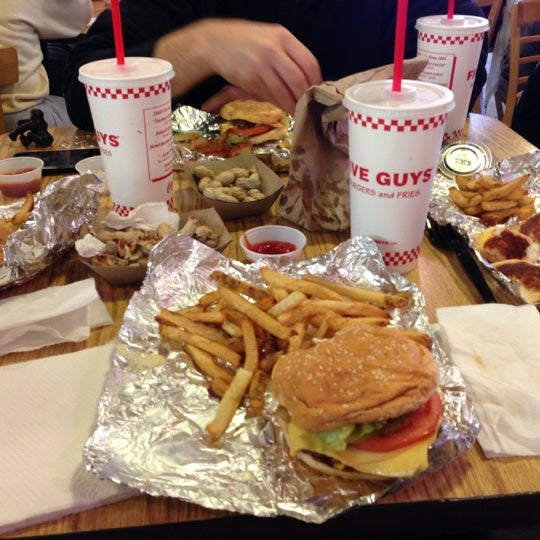 Photo taken at Five Guys by Meredith H. on 12/9/2012