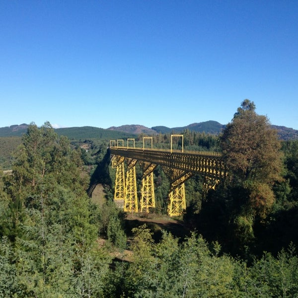 Photo taken at Monumento Nacional Puente Malleco by Ro R. on 5/21/2013