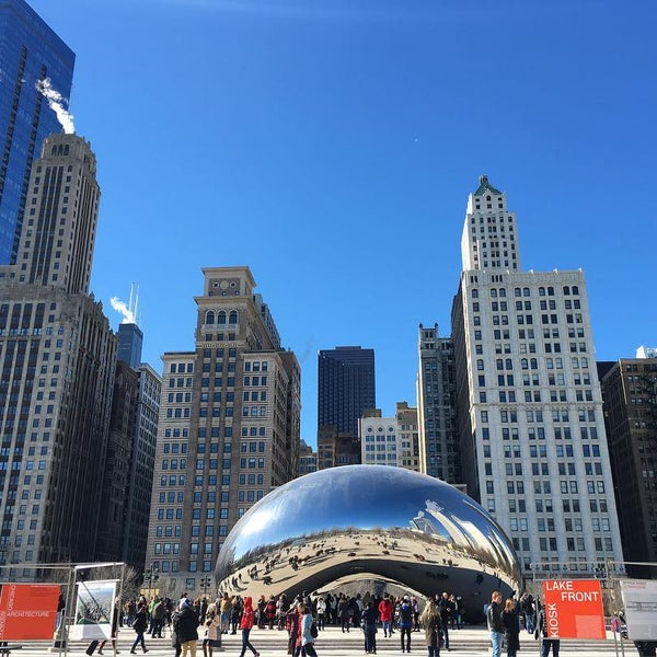 Photo taken at Cloud Gate by Jessica H. on 2/13/2016