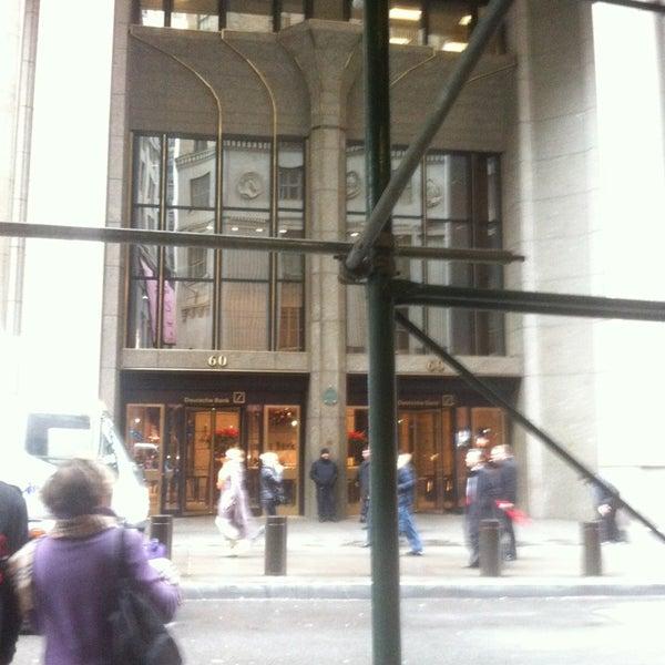 Photo taken at Deutsche Bank by Rob C. on 12/27/2012
