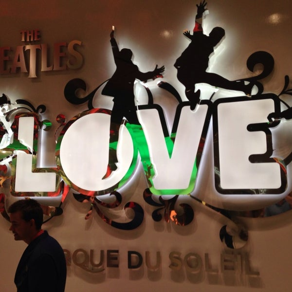 Photo taken at The Beatles LOVE (Cirque Du Soleil) by Brian L. on 7/1/2013