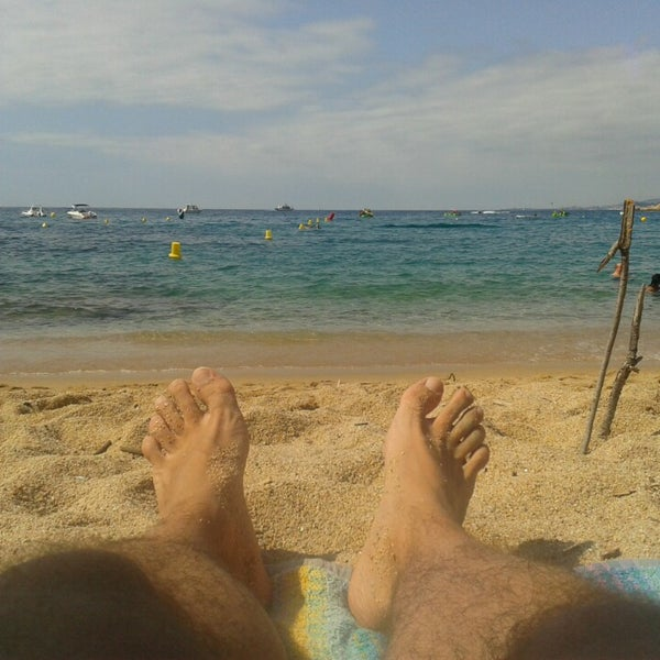 Photo taken at Cala Canyelles by Jean R. on 8/19/2014