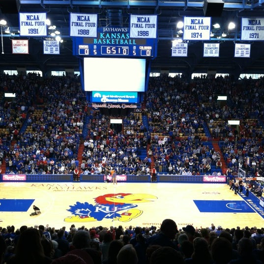 Photo taken at Allen Fieldhouse by Charlie B. on 12/8/2012