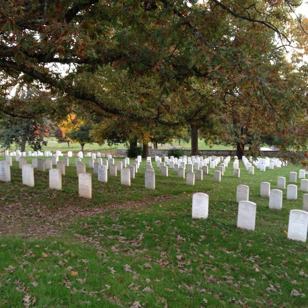 Photo taken at Soldiers' National Cemetery by Katie R. on 10/18/2014