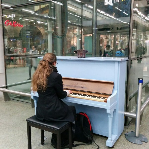 Photo taken at London St Pancras International Railway Station (STP) by Shiiim J. on 3/5/2014