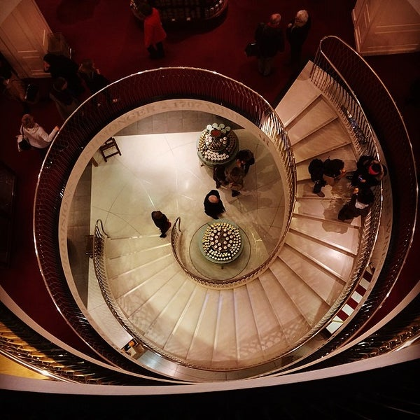 Photo taken at Fortnum & Mason 1707 Wine Bar by TheBigGayAl on 3/5/2014