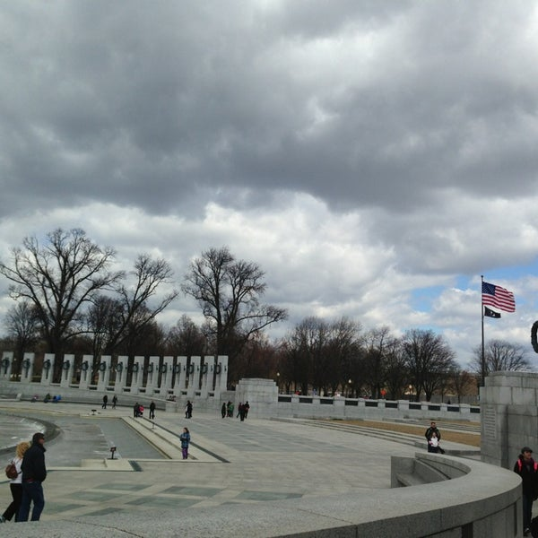 Photo taken at World War II Memorial by Laura P. on 3/27/2013