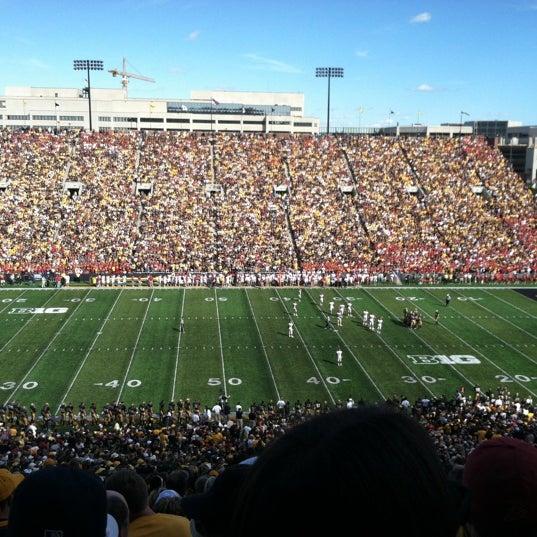 Photo taken at Kinnick Stadium by Hannah N. on 9/8/2012