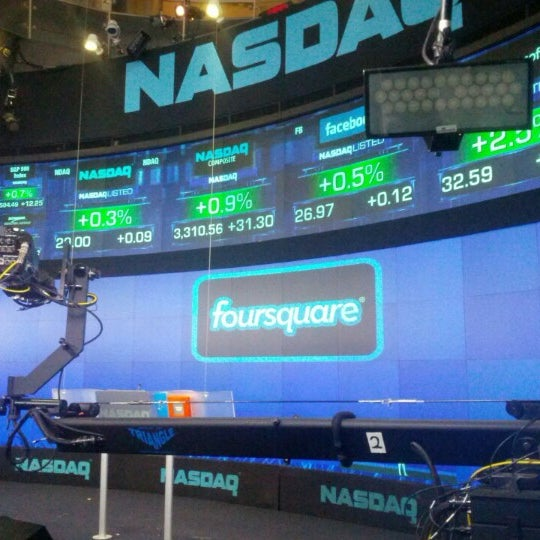 Photo taken at Nasdaq Marketsite by Larry M. on 4/29/2013